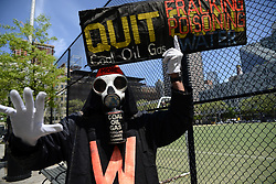 May 4, 2017 - New York City, New York, United States - Performance Artist Benne Zabel, of Australia, ahead of a Anti-Trump rally at DeWitt Park in NYC, on May 4, 2017. Thousands protest the President's return in NY as US President Donald Trump is scheduled to meet Australian PM Turnbull and an event at the USS Intrepid in the evening. (Credit Image: © Bastiaan Slabbers/NurPhoto via ZUMA Press)