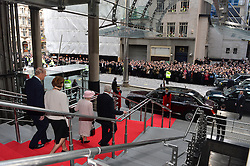 HM The Queen and the Duke of Edinburgh visit the Lloyd's of London building in the City of London, Thursday, 27th March 2014. Picture by Ben Stevens / i-Images