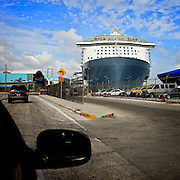 Royal Caribbean Cruise Line new flagship, the Oasis of the Seas, in port in Fort Lauderdale.