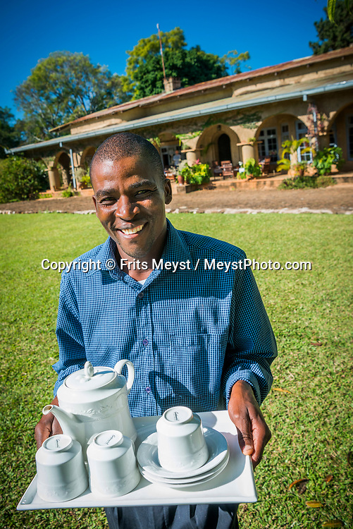 Malawi, July 2017. Living in former colonial heritage at Huntingdon House. As one of Malawi's first land claims registered in 1874, Satemwa Tea Estate in Thyolo district is among the country's longest established tea and coffee producers managed and operated by third generation members of the Cathcart Kay family. Malawi is known for its long rift valley and the third largest lake in Africa: Lake Malawi. Malawi is populated with friendly welcoming people, who gave it the name: the warm heart of Africa. In the south the lake make way for a landscape of valleys surrounded by spectacular mountain ranges. Photo by Frits Meyst / MeystPhoto.com