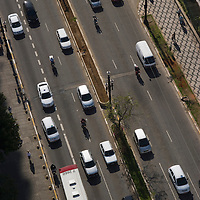 Aerial view of traffic in the street, sao Paulo, Brazil