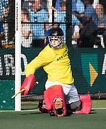 WASSENAAR - keeper Sam van der Ven (HGC) tijdens de hoofdklasse hockeywedstrijd HGC-Den Bosch (3-2). COPYRIGHT KOEN SUYK