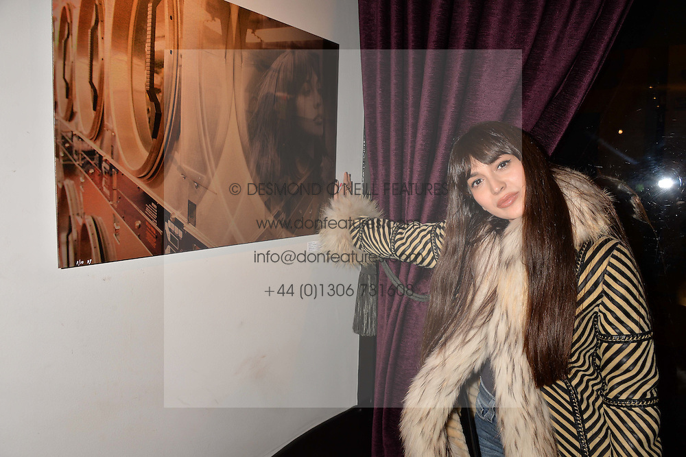 Zara Martin at an exhibition of photographs by Erica Bergsmeds held at The Den, 100 Wardour Street, London England. 19 January 2017.