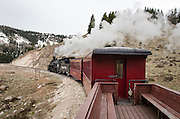 Steam & Steel. Season's first run for the historic Cumbres & Toltec en route to Chama, New Mexico.