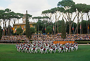 Military display of cavalry in Rome, Italy