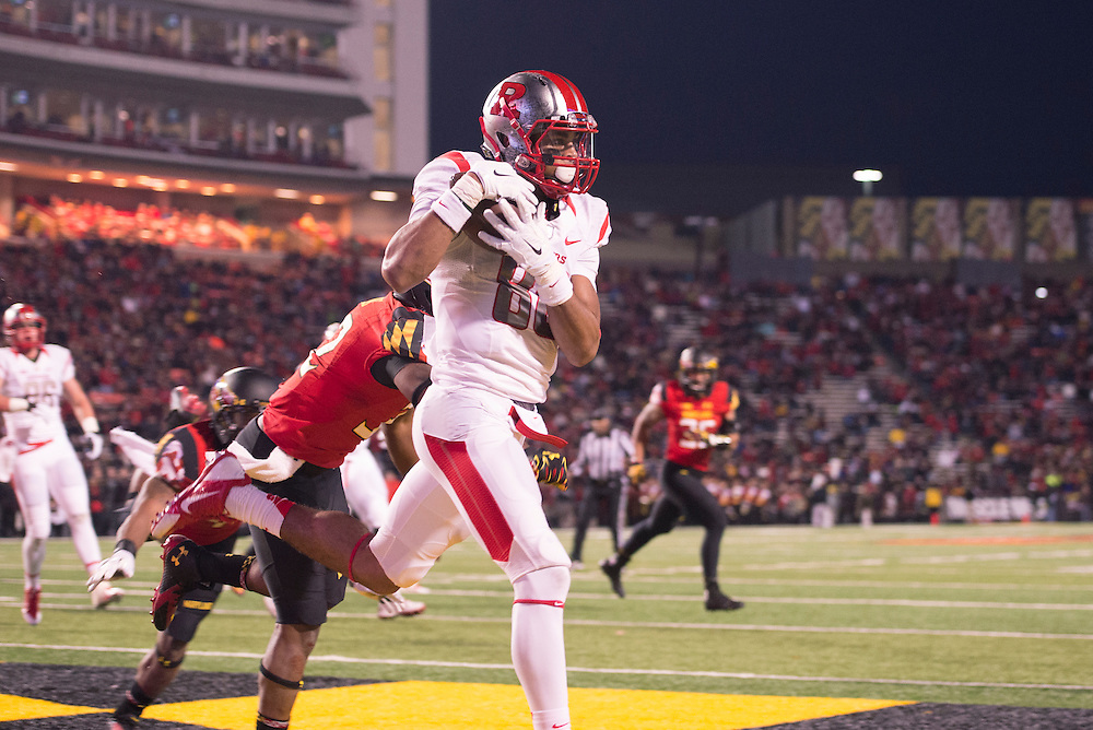 The Rutgers Scarlet Knights take on the Maryland Terrapins during their final regular season game at Capital One Stadium in College Park, MD on Saturday afternoon, November 29, 2014.<br /> Ben Solomon/Rutgers Athletics