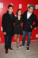 Frankie Vu, Layla Anna-Lee & Joe Hurd, Big Hero 6 3D - Gala Film Screening, Odeon Leicester Square, London UK, 18 January 2015, Photo By Brett D. Cove