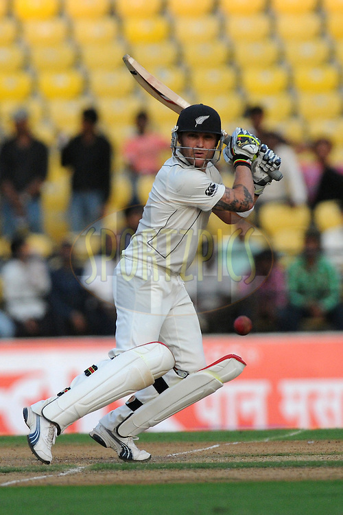 Brendon McCullum of New Zealand bats during day 1 of the third test between India and New Zealand held at the Vidarbha Cricket Stadium in Nagpur on the 20th November 2010..Photo by Pal Pillai/BCCI/SPORTZPICS
