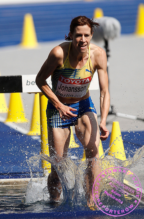 BERLIN 15/08/2009.12th IAAF World Championships in Athletics Berlin 2009.3000 Metres Steeplechase - Women.Ulrika Johansson of Sweden ..Phot: Piotr Hawalej / WROFOTO
