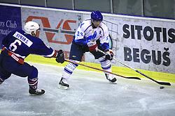 Samo Kumar vs Yury Yashechin at friendly ice-hockey game Slovenia Oldies vs Gazprom Export (Russia), on October 24, 2008 in Hala Tivoli, Ljubljana, Slovenia. Gazprom Export won 6:3.(Photo by Vid Ponikvar / Sportal Images)