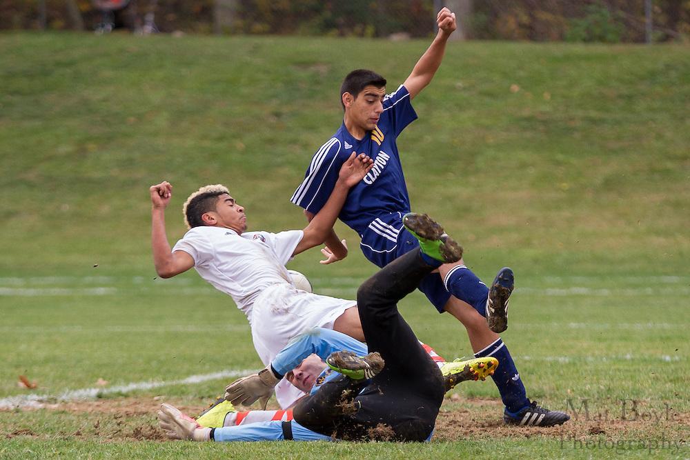 NJSIAA Group 1 South Boys Soccer Pitman High School vs Clayton High School at Alcyon Park in Pitman,  NJ on Sunday October 28, 2012. (Photo / Mat Boyle)