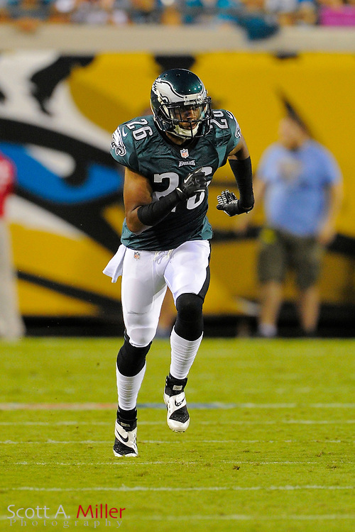 Philadelphia Eagles cornerback Cary Williams (26) during a preseason NFL game against the Jacksonville Jaguars at EverBank Field on Aug. 24, 2013 in Jacksonville, Florida. The Eagles won 31-24.<br /> <br /> &copy;2013 Scott A. Miller
