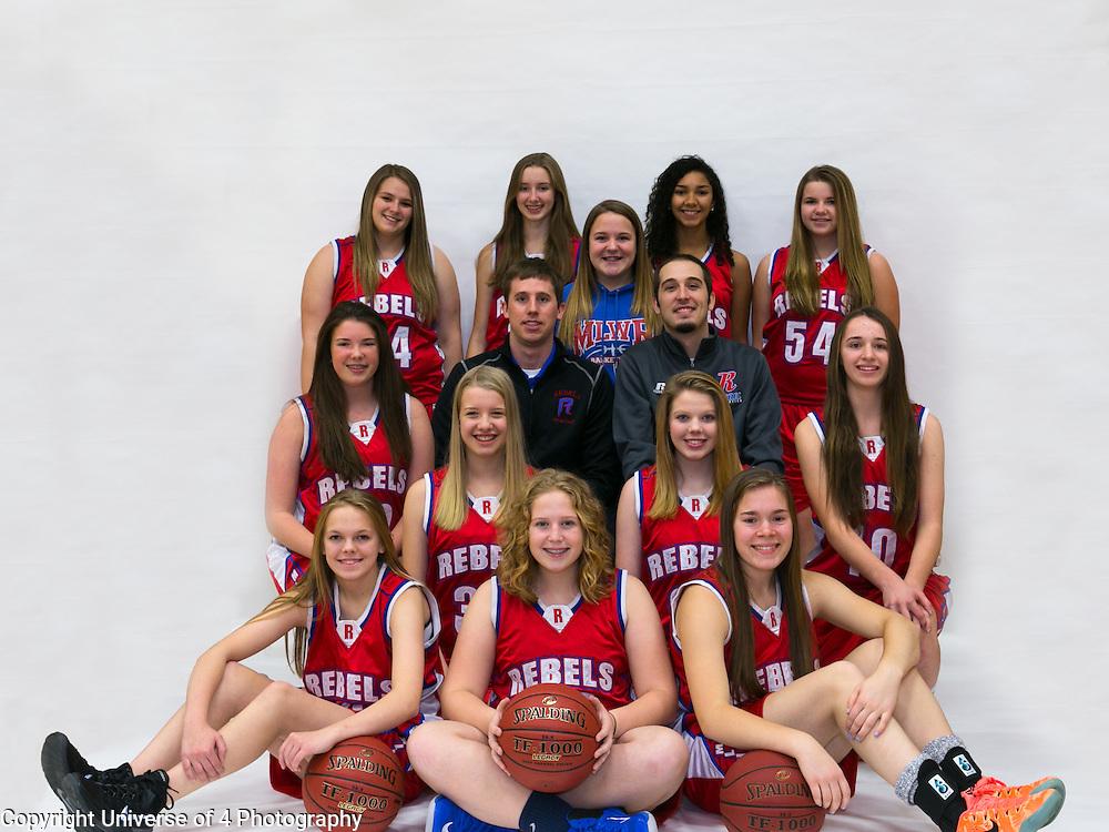 Girls High School Basket ball. Professional Sports Portraits.