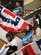 20 JANUARY 2020 - DES MOINES, IOWA: People wait to hear Senator Bernie Sanders (Ind-VT) speak during a campaign rally at the State Historical Museum of Iowa in Des Moines. Sen. Sanders is in Iowa campaigning to be the Democratic presidential nominee in 2020. Iowa hosts the first selection event of the presidential election cycle. The Iowa Caucuses are Feb. 3, 2020.         PHOTO BY JACK KURTZ