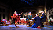 Blithe Spirit <br /> <br /> Noël Coward's classic comedy <br /> Blithe Spirit at The Duke of York's Theatre, London, Great Britain <br /> 6th March 2020 <br /> Press photocall <br /> directed by Sir Richard Eyre<br /> <br /> Opens on 10th March 2020 to 11th April 2020 <br /> <br /> Jennifer Saunders as Madame Arcati <br /> Lisa Dillon as Ruth Condomine<br /> Geoffrey Streatfeild as Charles<br /> Lucy Robinson as Mrs Bradman<br /> Rose Wardlaw as Edith<br /> Simon Coates as Dr Bradman<br /> Emma Naomi as Elvira<br /> <br /> Photograph by Elliott Franks