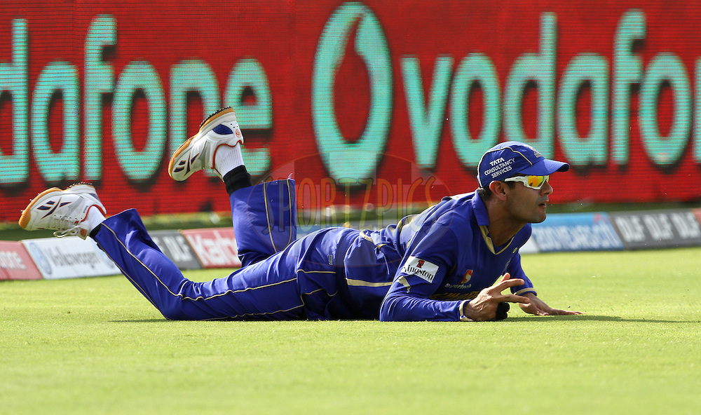Rajasthan Royals player Owasis Shah fields during match 52 of the Indian Premier League ( IPL) 2012  between The Pune Warriors India and the Rajasthan Royals held at the Subrata Roy Sahara Stadium, Pune on the 8th May 2012..Photo by Vipin Pawar/IPL/SPORTZPICS