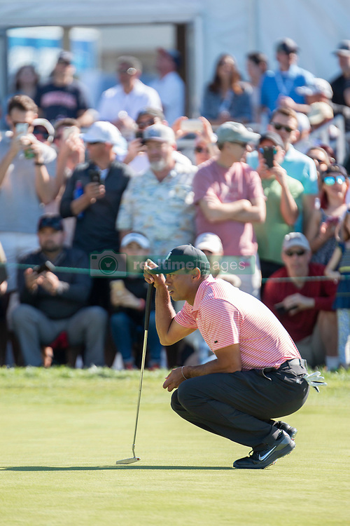 January 27, 2019 - San Diego, CA, U.S. - SAN DIEGO, CA - JANUARY 27: Tiger Woods during the final round of the Farmers Insurance Open at Torrey Pines Golf Club on January 27, 2019 in San Diego, California. (Photo by Alan Smith/Icon Sportswire) (Credit Image: © Alan Smith/Icon SMI via ZUMA Press)