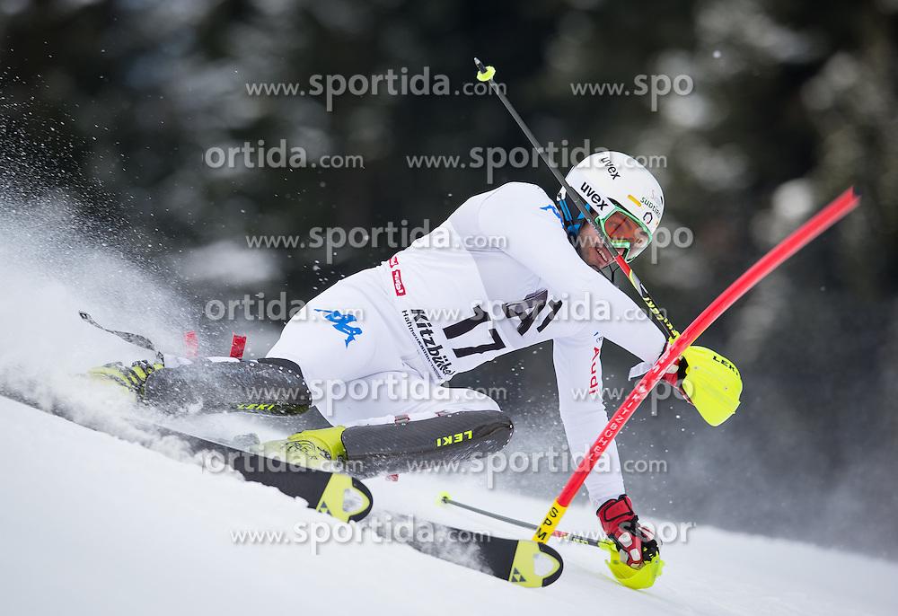 27.01.2013, Ganslernhang, Kitzbuehel, AUT, FIS Weltcup Ski Alpin, Slalom, Herren, 1. Lauf, im Bild Patrick Thaler (ITA) // Patrick Thaler of Italy in action during 1st run of the  mens Slalom of the FIS Ski Alpine World Cup at the Ganslernhang course, Kitzbuehel, Austria on 2013/01/27. EXPA Pictures © 2013, PhotoCredit: EXPA/ Johann Groder