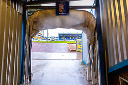 The players tunnel at the One Call Stadium, home to Mansfield Town - Mandatory by-line: Ryan Crockett/JMP - 27/10/2018 - FOOTBALL - One Call Stadium - Mansfield, England - Mansfield Town v Milton Keynes Dons - Sky Bet League Two