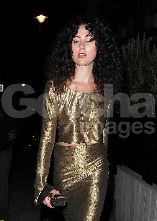 Singer Eliza Doolittle leaving the LFW AnOther Magazine party at Loulou's private members club in Mayfair, London, UK. 15/09/2014<br />BYLINE MUST READ : GOTCHAIMAGES.COM<br /><br />Copyright by &copy; Gotcha Images Ltd. All rights reserved.<br />Usage of this image is conditional upon the acceptance <br />of Gotcha Images Ltd, terms and conditions available at<br />www.gotchaimages.com