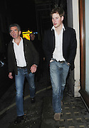 18.MARCH.2011. LONDON<br /> <br /> A SMILING PRINCE HARRY LEAVING MADDOX NIGHT CLUB IN MAYFAIR JUST AFTER 2.00AM AND SEEMED TO BE IN A GOOD MOOD AND HARRY'S SECURITY GUARD HAD HIS TAZER GUN ON SHOW.<br /> <br /> BYLINE: EDBIMAGEARCHIVE.COM<br /> <br /> *THIS IMAGE IS STRICTLY FOR UK NEWSPAPERS AND MAGAZINES ONLY*<br /> *FOR WORLD WIDE SALES AND WEB USE PLEASE CONTACT EDBIMAGEARCHIVE - 0208 954 5968*
