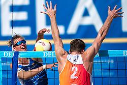 25-08-2019 NED: DELA NK Beach Volleyball, Scheveningen<br /> Last day NK Beachvolleyball / Yorick de Groot, Christiaan Varenhorst