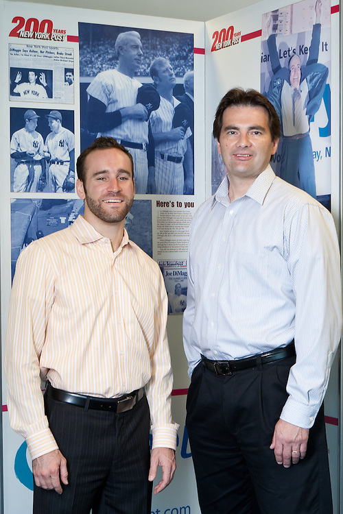 "Jonathon ""J"" Stone (left), Fellow with the Environmental Defense Fund and Paul Jakubski (right) of News Corp. Jonathon Stone of the Environmental Defense Fund consulting for the NewsCorp printing plant in Bronx, New York."
