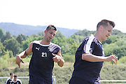 Luka Tankulic and Thomas Konrad during Dundee pre-season training at GLOBALL Football Park, Budapest, Hungary<br /> <br />  - &copy; David Young - www.davidyoungphoto.co.uk - email: davidyoungphoto@gmail.com