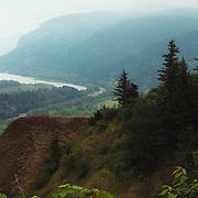 Hazy day at Columbia River Gorge - Oregon