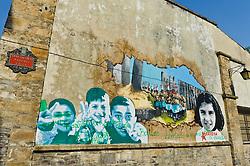 Wall painting in Vitoria Gasteiz, Spain<br /> <br /> (c) Andrew Wilson | Edinburgh Elite media