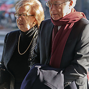 NLD/Amsterdam/20181027 - Herdenkingsdienst Wim Kok, Jozias van Aartsen en partner Henriette Warsen