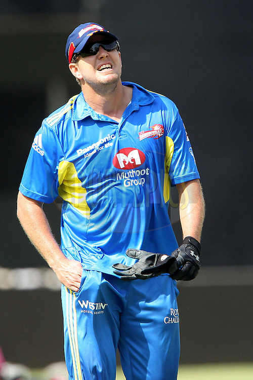 James Hopes during the Delhi Daredevils practice session held at the MA Chidambaram Stadium in Chennai, Tamil Nadu, India on the 11th May 2011..Photo by Ron Gaunt/BCCI/SPORTZPICS