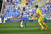 Reading's Aaron Tshibola during the Sky Bet Championship match between Reading and Milton Keynes Dons at the Madejski Stadium, Reading, England on 22 August 2015. Photo by Mark Davies.