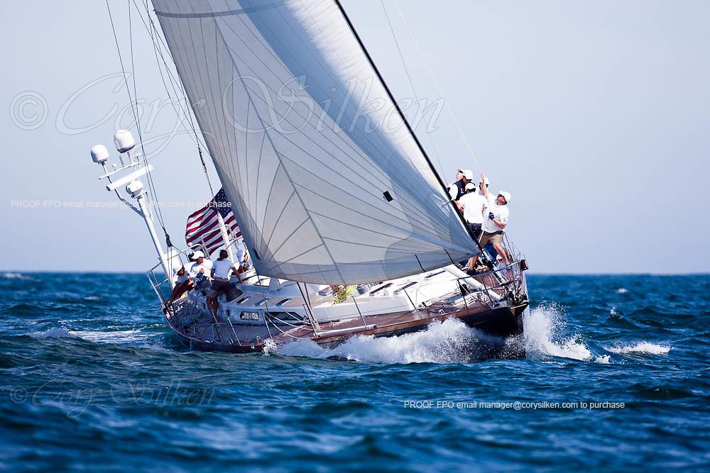 Fearless sailing in race 2 at the Newport Bucket Regatta.