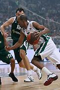 DESCRIZIONE : Atene Eurolega 2008-09 Quarti di Finale Gara 2 Panathinaikos Montepaschi Siena<br /> GIOCATORE : Arriel McDonald<br /> SQUADRA : Montepaschi Siena<br /> EVENTO : Eurolega 2008-2009<br /> GARA : Panathinaikos Montepaschi Siena<br /> DATA : 26/03/2009<br /> CATEGORIA : palleggio<br /> SPORT : Pallacanestro<br /> AUTORE : Agenzia Ciamillo-Castoria/Action Images.gr<br /> Galleria : Eurolega 2008-2009<br /> Fotonotizia : Siena Eurolega 2008-09 Panathinaikos Montepaschi Siena<br /> Predefinita :