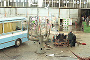 Dresden travellers party, aftermath, Germany, 2000's,