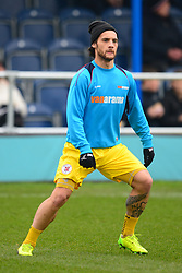 ELLIS MYLES  BRACKLEY TOWN  WARM UP BEFORE KICK OFF, Wealdstone FC v Brackley Town Buildbase FA Trophy Semi Final 2nd Leg, Saturday 24th March 2018, Score 0-2 (Byrne, Williams,) <br /> Photo:Mike Capps