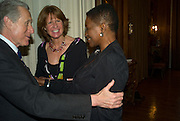 the Italian Ambassador, Signora Aragona and Baroness Amos, Launch of  ñMy Beautiful Gameî by Nancy DellÍOlio<br />