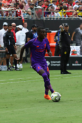 July 22, 2018 - Charlotte, NC, U.S. - CHARLOTTE, NC - JULY 22:  Rafael Camacho (64) of Liverpool looks to pass the ball during the International Champions Cup soccer match between Liverpool FC and Borussia Dortmund in Charlotte, N.C. on July 22, 2018.(Photo by John Byrum/Icon Sportswire) (Credit Image: © John Byrum/Icon SMI via ZUMA Press)
