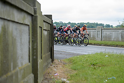 Anna Plichta and Chantal Blaak on the front of th peloton - Stage 2 of the OVO Energy Women's Tour - a 144.5 road race, starting and finishing in Stoke-on-Trent on June 8, 2017, in Staffordshire, United Kingdom. (Photo by Sean Robinson/Velofocus.com)