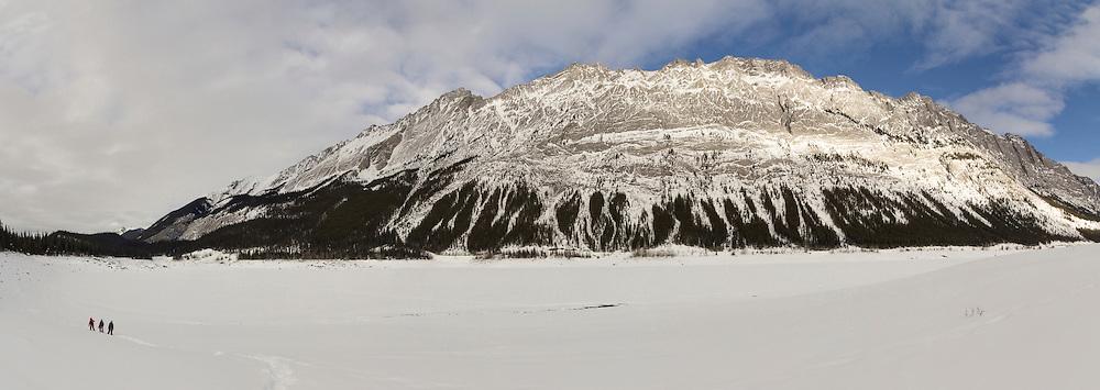 The Medicine Lake slabs in Jasper National Park