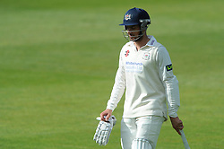 Benny Howell of Gloucestershire cuts a dejected figure after being bowled by Kyle Jarvis for 19 - Photo mandatory by-line: Dougie Allward/JMP - Mobile: 07966 386802 - 08/06/2015 - SPORT - Football - Bristol - County Ground - Gloucestershire Cricket v Lancashire Cricket Day 2 - LV= County Championship