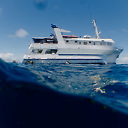 Aboard the TAKA ship, a diving ship crusing on the Great Barrier Reef.