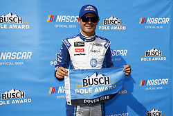 May 4, 2018 - Dover, Delaware, United States of America - Kyle Larson (42) wins the pole for the AAA 400 Drive for Autism at Dover International Speedway in Dover, Delaware. (Credit Image: © Chris Owens Asp Inc/ASP via ZUMA Wire)