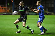 Forest Green Rovers Carl Winchester(7) holds off Carlisle United's Hallam Hope(9) during the EFL Sky Bet League 2 match between Carlisle United and Forest Green Rovers at Brunton Park, Carlisle, England on 17 September 2019.