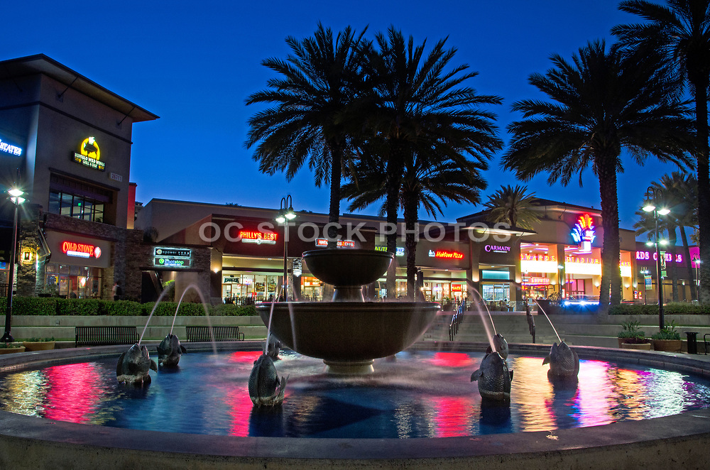Town Center in Aliso Viejo at Night