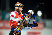 &Ouml;STERSUND, SVERIGE - 2017-12-02: Daniel Mesotitsch under herrarnas sprint t&auml;vling under IBU World Cup Skidskytte p&aring; &Ouml;stersunds Skidstadion den 2 december 2017 i &Ouml;stersund, Sverige.<br /> Foto: Johan Axelsson/Ombrello<br /> ***BETALBILD***