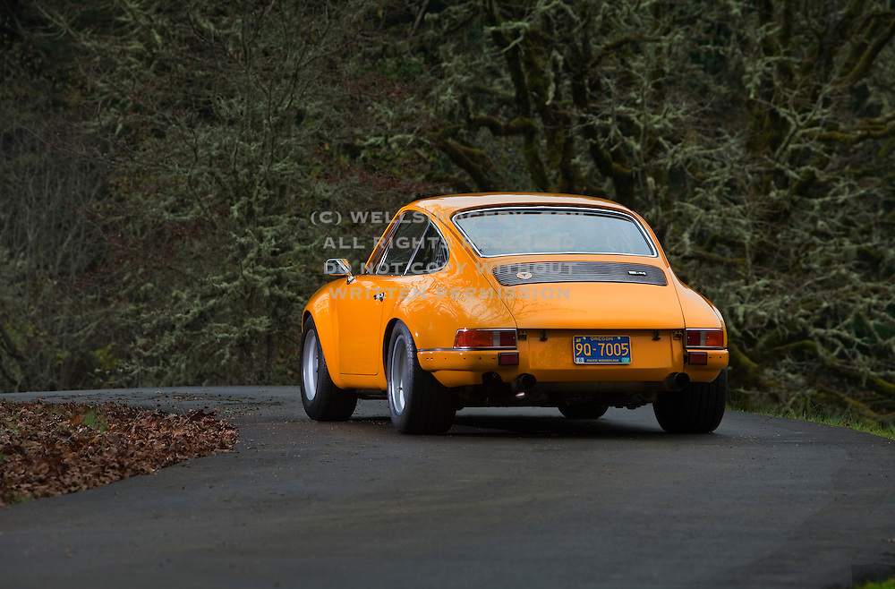 Image of a 1972 Porsche 911 ST tribute, Corvallis, Oregon, Pacific Northwest, property released