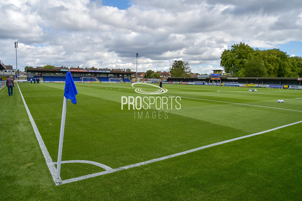 The Pitch during the EFL Sky Bet League 1 match between AFC Wimbledon and Portsmouth at the Cherry Red Records Stadium, Kingston, England on 9 September 2017. Photo by Adam Rivers.
