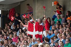 Danish supporters - Freestyle Grand Prix Dressage - Alltech FEI World Equestrian Games™ 2014 - Normandy, France.<br /> © Hippo Foto Team - Jon Stroud<br /> 25/06/14